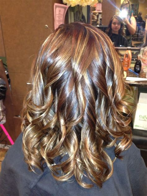 Rich Brown Hair With Caramel Highlights by Rich Mocha Brown With Golden Caramel And Auburn
