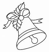 Bells Coloring Christmas Pages sketch template