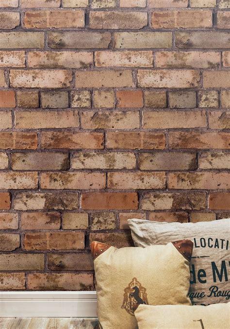 brown bricks wallpaper realistic exposed brick