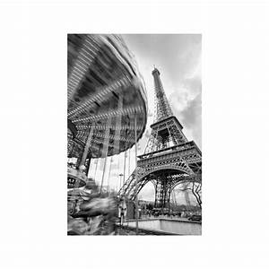 Tableau Photo Noir Et Blanc : tableau photo encadr carrousel et tour eiffel en noir ~ Melissatoandfro.com Idées de Décoration