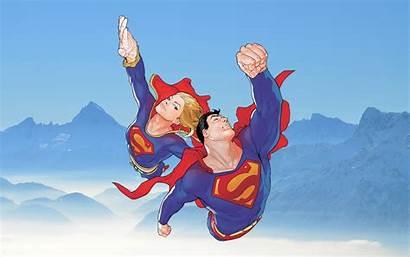 Supergirl Superman Deviantart Fan Wallpapers Dc