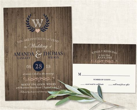 Barn Wedding Invitations : Rustic Wedding Invitation Vineyard Wine Country Wedding
