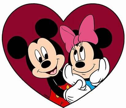 Valentine Valentines Disney Clip Clipart Mickey Minnie