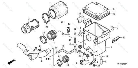 Honda Atv Oem Parts Diagram For Air Cleaner