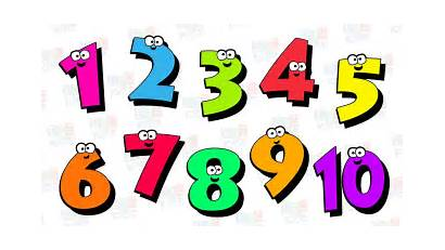 Numbers Number Clipart Counting Children Background Transparent