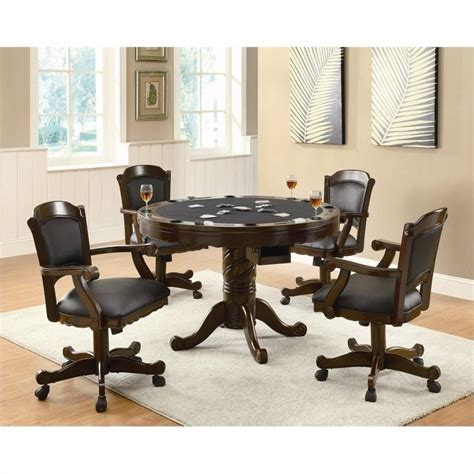 3 in 1 pedestal table and chairs 5