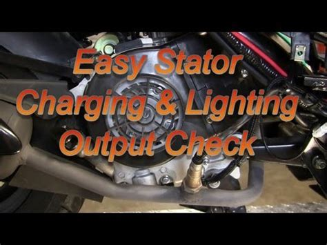 Easy Scooter Stator Charging Lighting Check