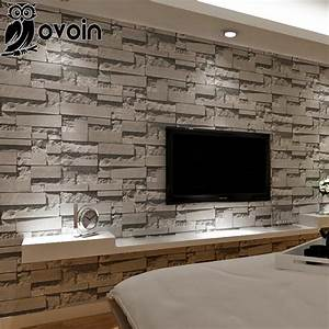 Aliexpress.com : Buy Stacked stone 3d brick wallpaper ...