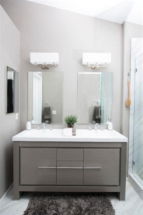pleasing makeup vanity  bathroom  white  gray