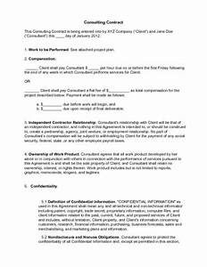 it consultant contract template - how to write a consulting contract 15 steps with pictures