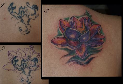 Lotus Flower Cover Up By Zombthc On Deviantart