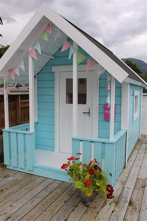 Turquoise Play House  Huset Ved Fjorden  Little Ones. Royal Blue Dining Chairs. Cape Cod Architecture. Ajt Supplies. Heather Blend Shingles. Clothes Valet. Dynamic Garage Door. Narrow Buffet. Johnson Lumber