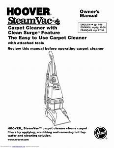 Hoover Steamvac Manual By Aragonez