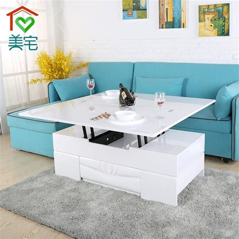 The gemelli coffee table is designed stylishly combining the concept of two tables in one. House Beautiful quality multifunction lift Coffee table with stool combination small apartment ...