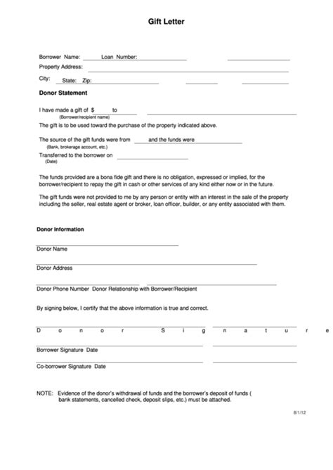 gifting letter templates