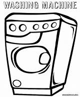 Washer Coloring Washing Machine Sheet Colorings sketch template