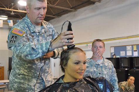 soldier shaves head  support comrade militarycom