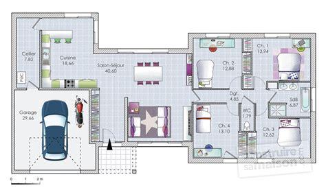 plan de maison plain pied moderne plan maison plain pied 160m2