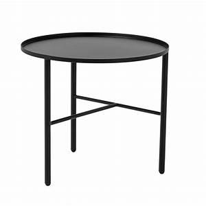 Table Basse 3 Pieds : table basse metal noir 3 pieds bloomingville pretty kdesign ~ Teatrodelosmanantiales.com Idées de Décoration