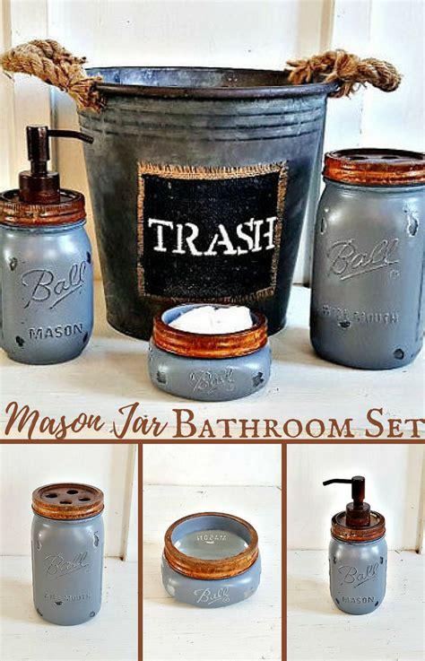 Rustic Bathroom Sets by Jar Bathroom Set 4 Rustic Grey Galvinized
