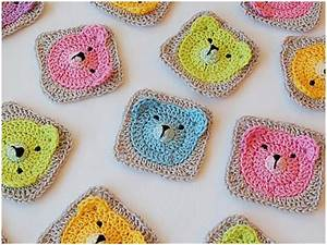 Crochet Teddy Bear – Granny Square [Tutorial] DIY