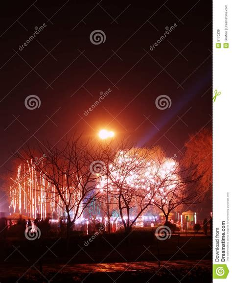 lighting decoration the park royalty free stock images