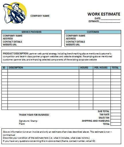 electrical invoice template  invoice