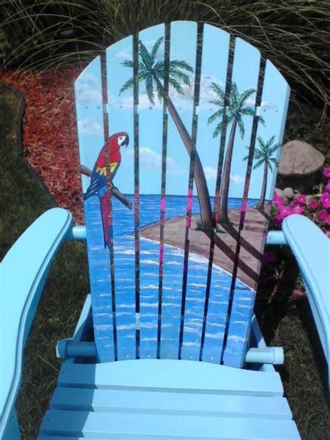 painted tropical adirondack chair tropical adirondack