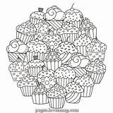 Coloring Muffins Pages Candy Lovesmag Magical Sweet sketch template