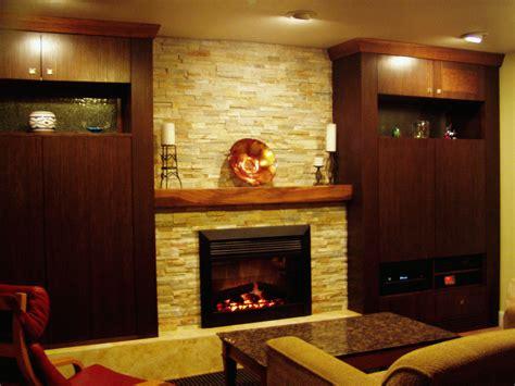 indoor fireplace ideas  elegant exposed seamless stone