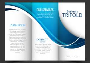 template design template design of blue wave trifold brochure free vector stock graphics images