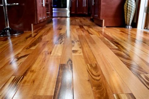 tigerwood koa prefinished modern hardwood flooring minneapolis by