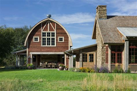 barn style house plans picturesque montana farmhouse with an attached barn
