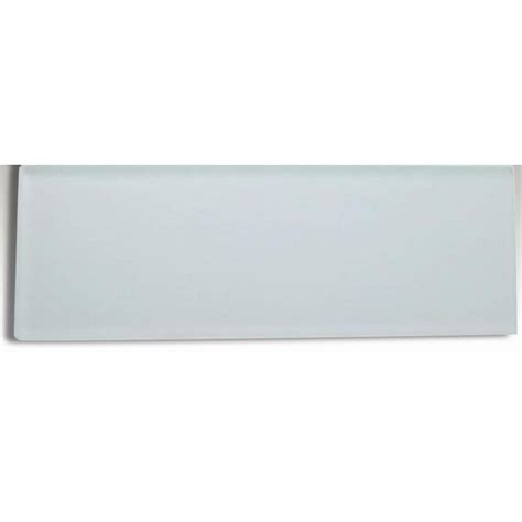 splashback tile contempo bright white frosted 4 in x 12