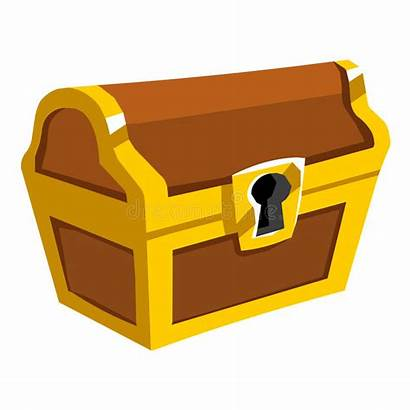 Treasure Chest Illustration Isolated Background Vector
