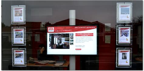 affichage vitrine agence immobiliere affichage dynamique en agence immobili 232 re le marketing immobilier by alveen