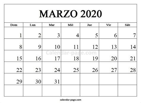 foto de Marzo 2020 Calendario Calendario 2020 en Espa