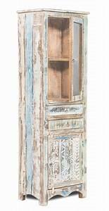 Shabby Chic Vitrine : shabby chic m bel vitrine 60x185x40cm massiv wohnzimmer schrank pinterest shabby ~ Eleganceandgraceweddings.com Haus und Dekorationen