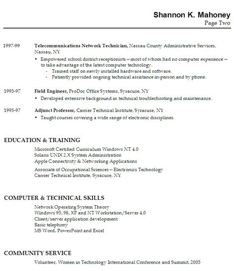 high school resume exles work experience resume exle