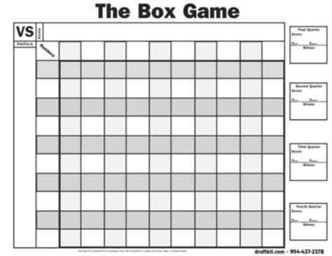 bowl box template 7 best images of printable football pool chart printable football pool master sheets