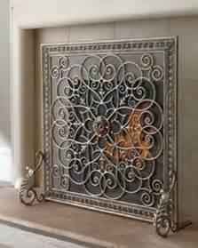 Silver Fireplace Screen
