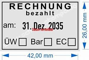 Rechnung Jahrespreis Karte : stempel rechnung bezahlt am mit berweisung bar ec ~ Themetempest.com Abrechnung