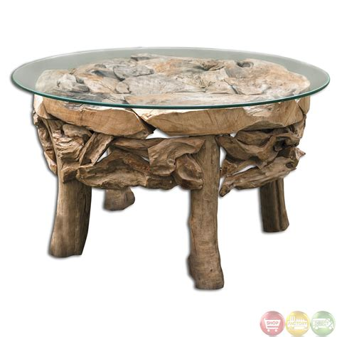 beach wood coffee table teak root glass top beach house coffee table 25619 ebay