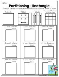 partitioning a rectangle an activity to help students