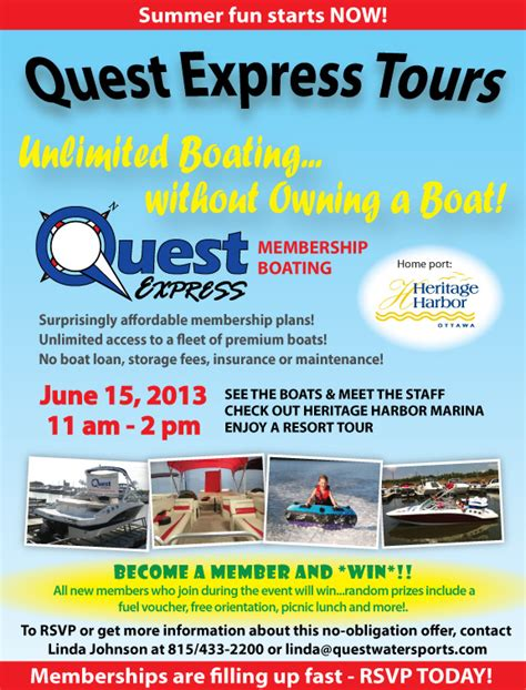 Quest Boat Club Road by Quest Quest Express Take A Tour Saturday