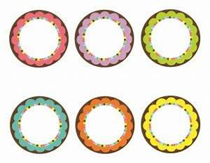bright 3 inch round labels schoolgirl style With editable circle labels