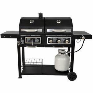 Kohle Gasgrill Kombination : portable dual fuel combination charcoal gas barbecue outdoor grill green ankles gardening ~ Frokenaadalensverden.com Haus und Dekorationen