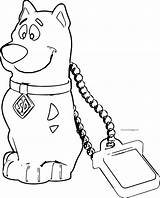Coloring Scooby Doo Chain Cartoon Wecoloringpage sketch template