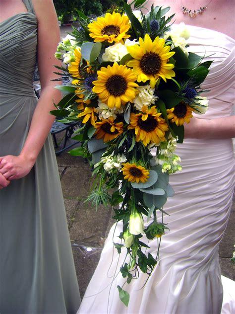 Sunflower Waterfall Bouquet The Dress Wedding Bouquets