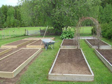 backyard garden house design with diy wood raised bed